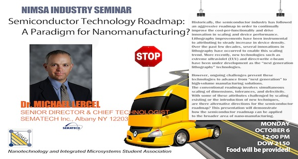 Semiconductor Technology Roadmap: A Paradigm for Nanomanufacturing?