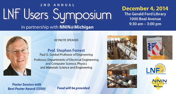 LNF Users Symposium – 2nd Annual
