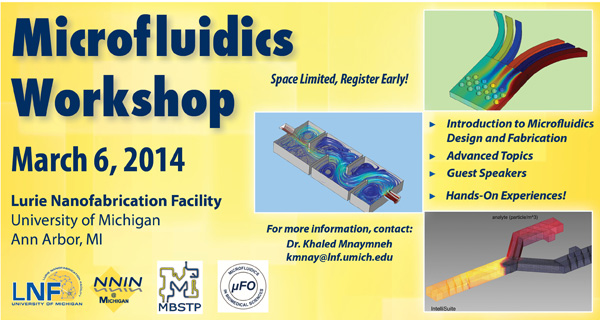 LNF Microfluidics Workshop – Thursday, March 6, 2014
