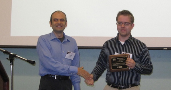 Thomas Frost Receives Best Paper Award for Achieving a HQ QD Red Laser