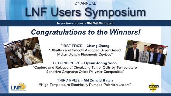 2014 LNF Users Symposium Winners