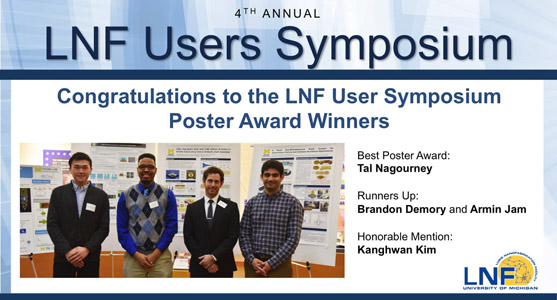 2016 LNF User Symposium Poster Winners