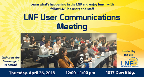 2018-04 User Communication Meeting