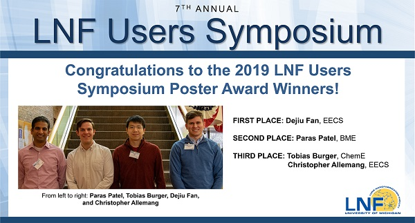 2019-12 Users Symposium Poster Winners