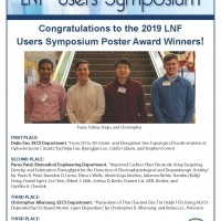 LNF User Symposium 2019 Poster Award Winners Flyer