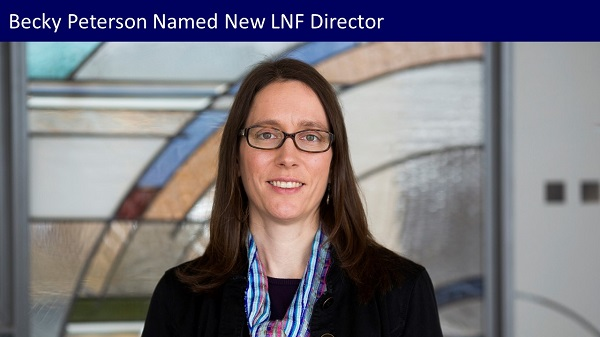 2020-09 Becky Peterson Named New LNF Director